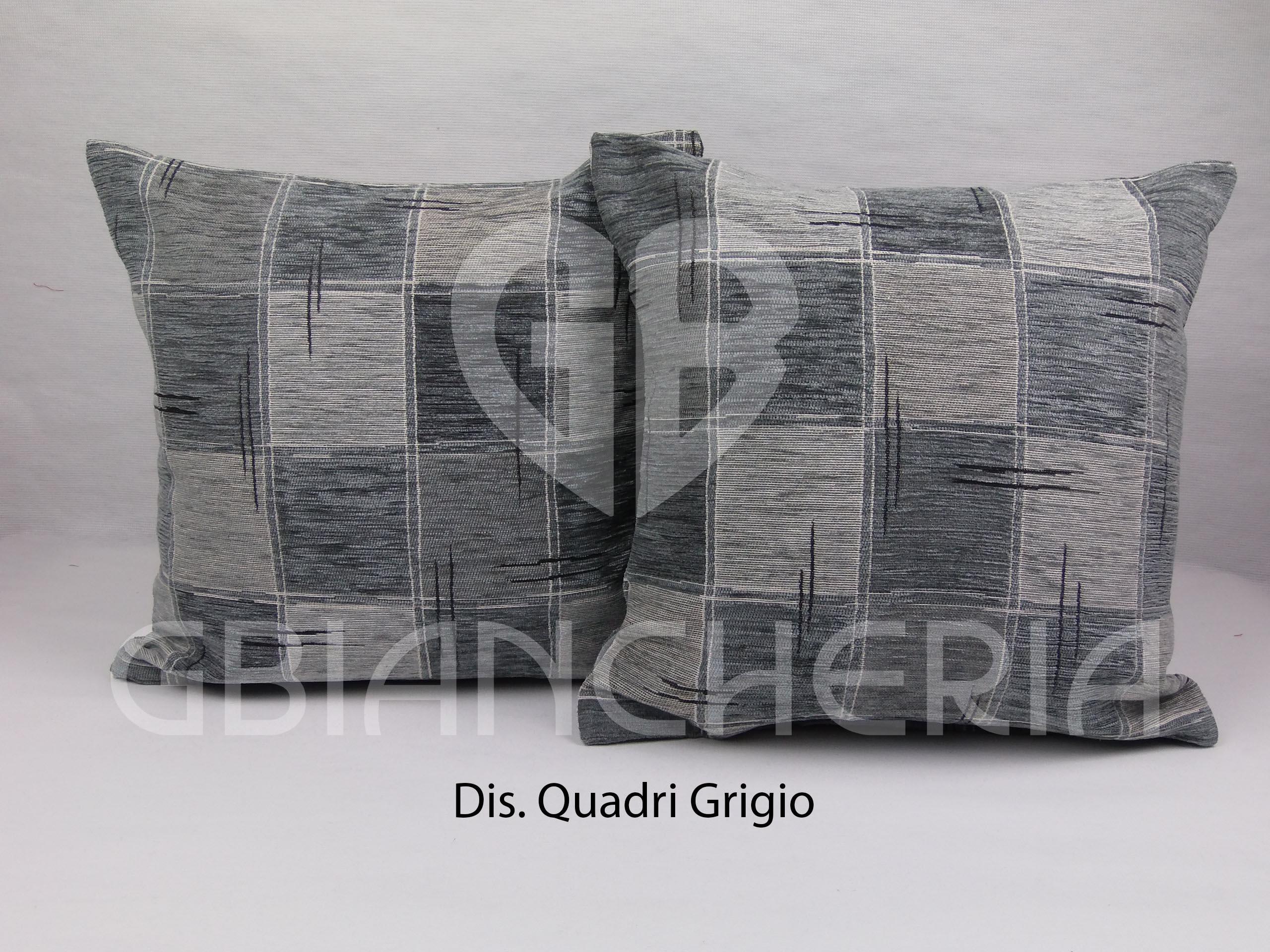 Cuscini Grigi.Cuscini Quadri Grigi Cm40x40 Gbiancheria