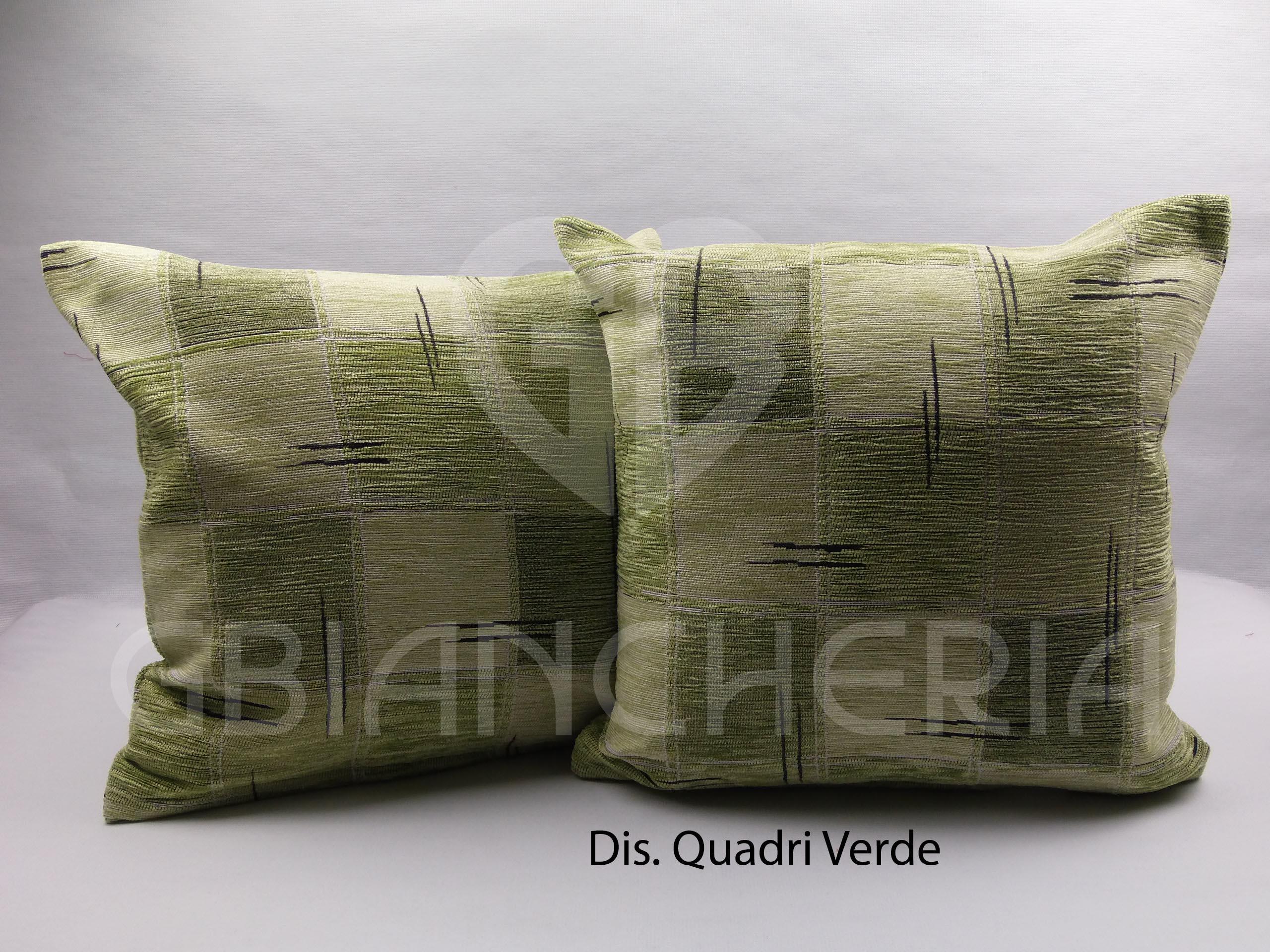 Cuscini Verdi.Fodere Cuscini Cinigliate A Quadri Verdi Gbiancheria